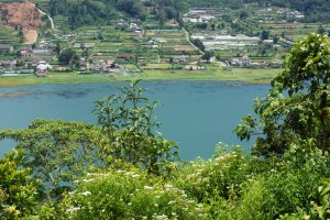 The village that sprawls down the hills to Lake Buyan