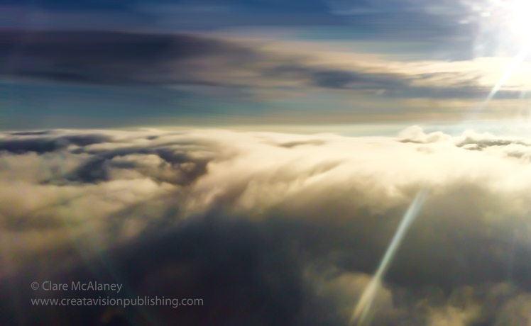 Hovering ash cloud