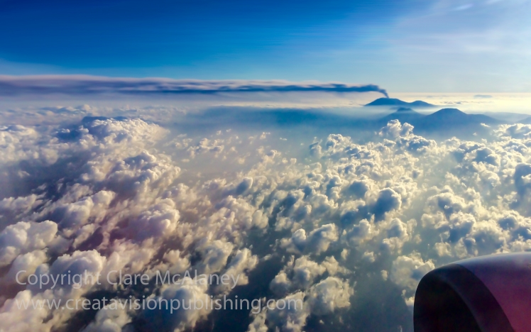 Mt Ruang from the air