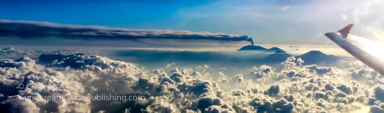 Mt Ruang from Air Asia flight