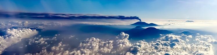Mt Raung erupts